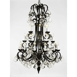 One Allium Way Propes 24-Light Candle Style Chandelier