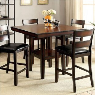 Manassas 5 Piece Counter Height Dining Set by Millwood Pines