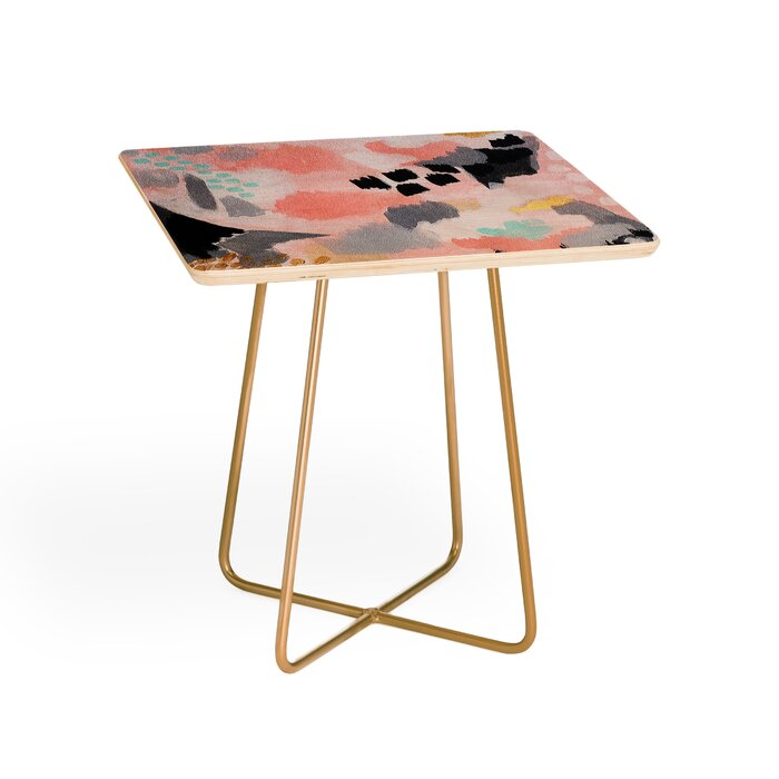 Excellent Laura Fedorowicz Serenity Abstract End Table Home Interior And Landscaping Pimpapssignezvosmurscom