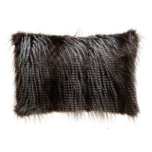 Holli Feather Indoor/Outdoor Faux Fur Lumbar Pillow Cover