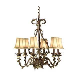6-Light Shaded Chandelier by JB Hirsch Home Decor