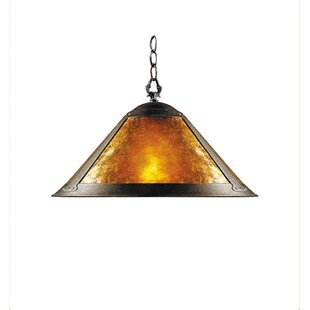 JB Hirsch Home Decor Mica 1-Light Cone Pe..
