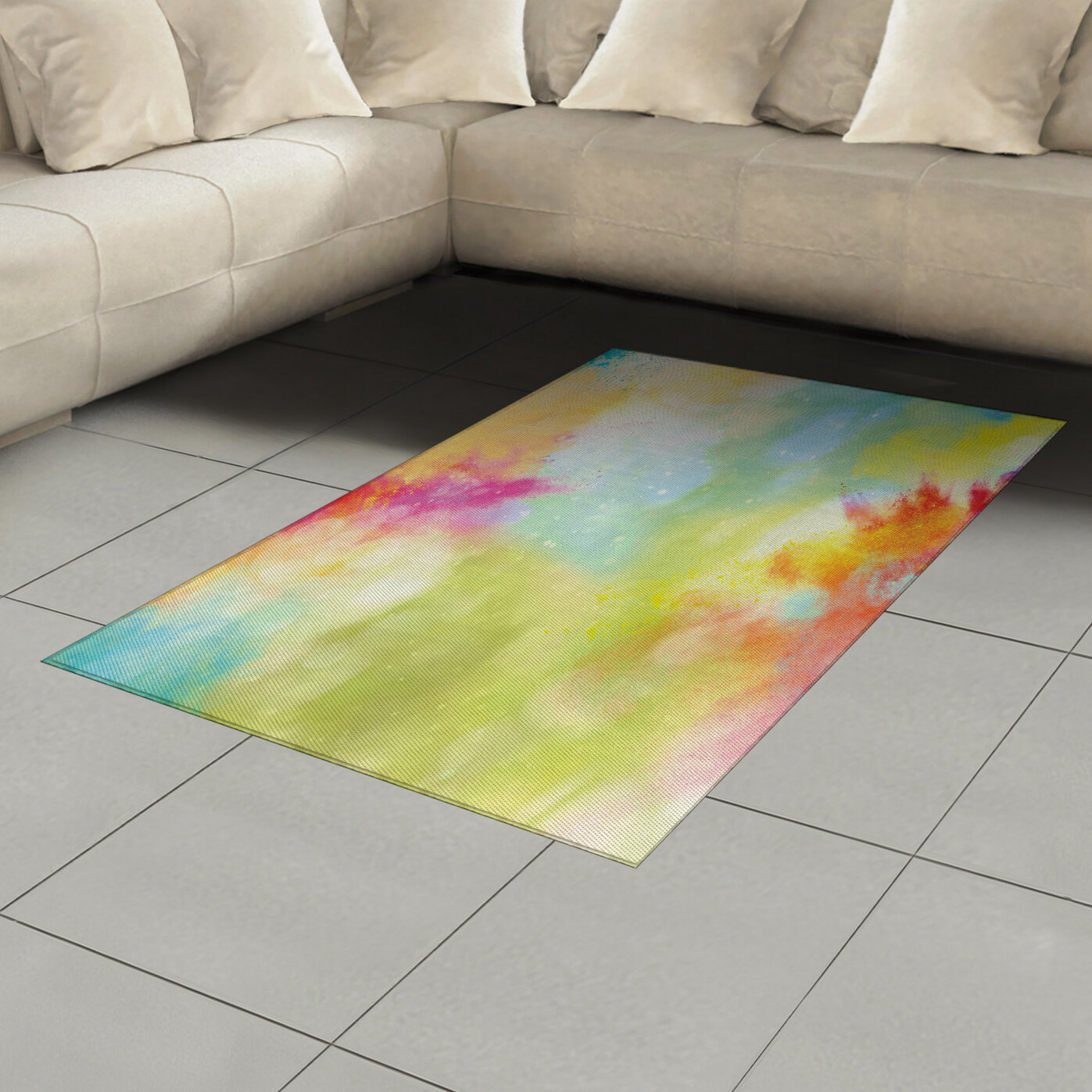 Ambesonne Colourful Area Rug