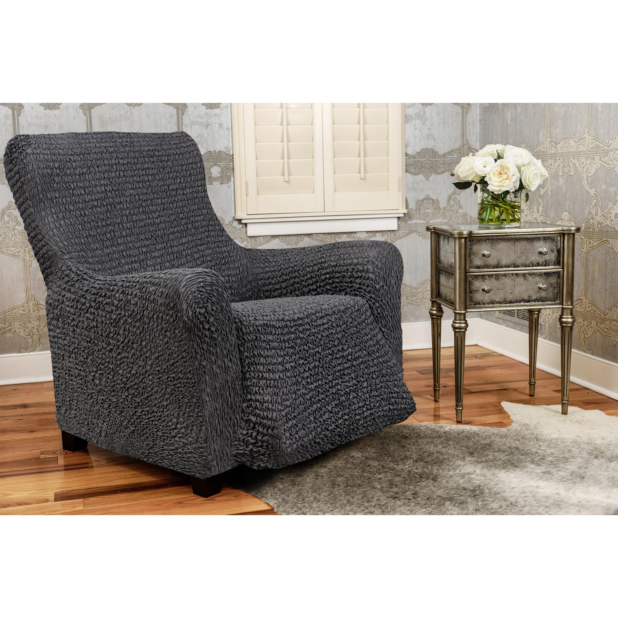 Paulato By Ga I Co Box Cushion Recliner Slipcover Wayfair
