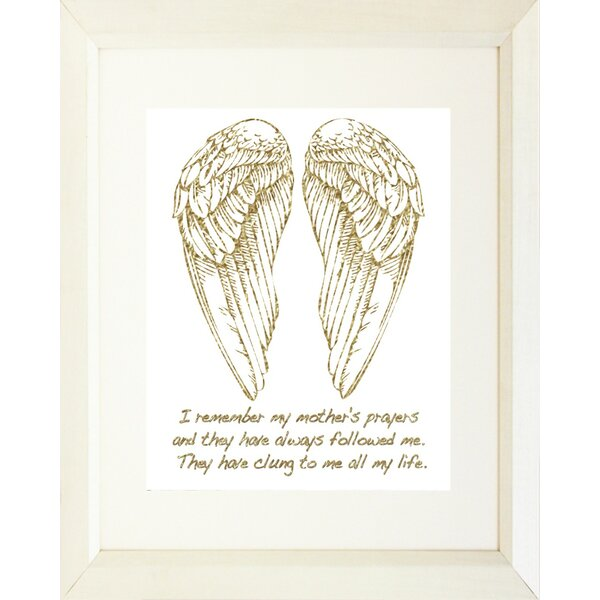 Buy Art For Less Typography Religious Angel Wings And Quote God Made Mothers Picture Frame Textual Art Print On Paper Wayfair