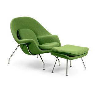 Pontiff Lounge Chair and Ottoman By Orren Ellis