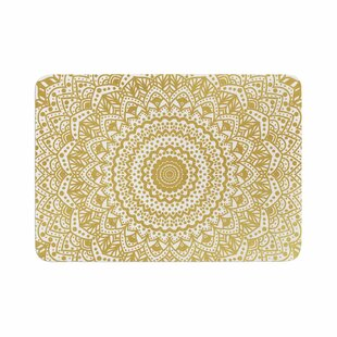 Nika Martinez Mandala Illustration Memory Foam Bath Rug