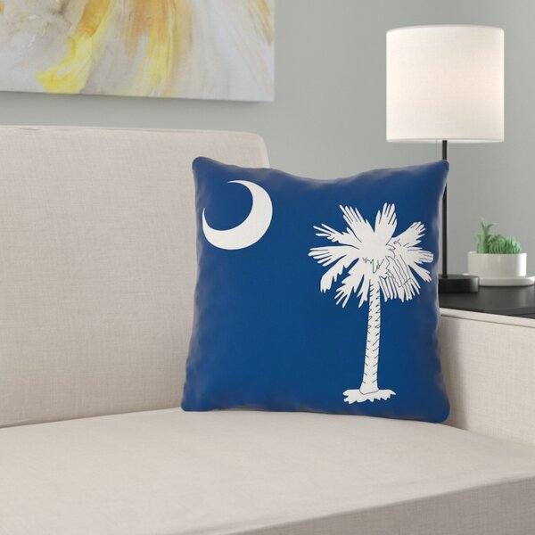 East Urban Home Centers South Carolina Flag In Spun Poly Throw Pillow Indoor Wayfair