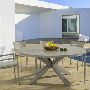 Misael Aluminium Dining Table By Ebern Designs