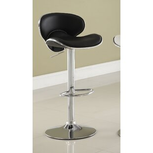 Reynard Adjustable Height Swivel Bar Stool Wade Logan