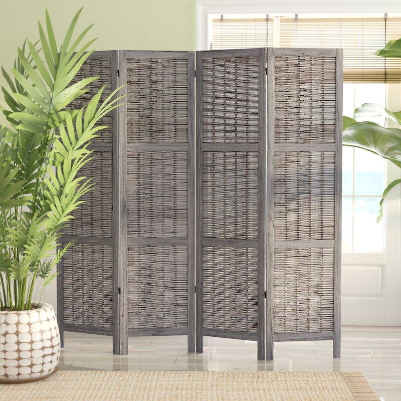 Beachcrest Home Madalynn 4 Panel Room Divider Reviews Wayfair