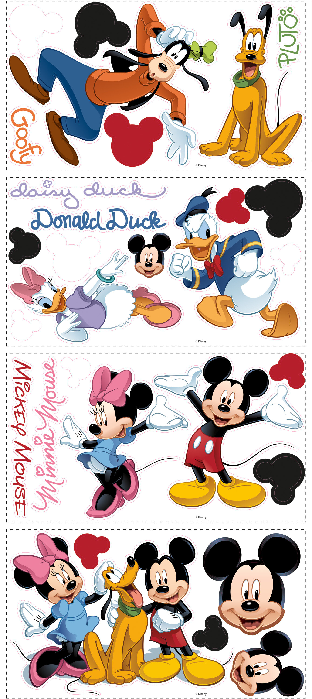 "DISNEY DONALD DUCK  FACE wall sticker  PEEL STICK BORDER CUT OUT 3/"" inch"