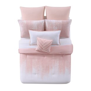 Lyon Blush Cotton 3 Piece Duvet Cover Set