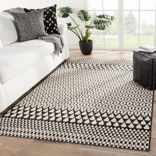 Kiril Geometric Black/Brown Indoor/Outdoor Area Rug