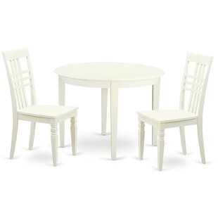 3 Piece Dining Set East West Furniture
