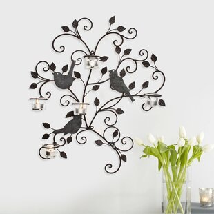 Wall Hanging Metal Tealight Holder  sc 1 st  Wayfair & Wall Hanging Plate Holders | Wayfair