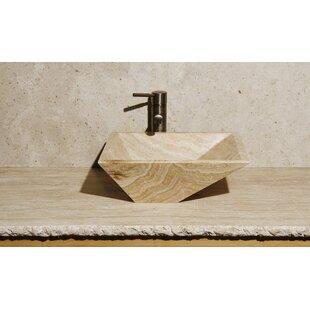 Compare prices Irregular Stone Rectangular Vessel Bathroom Sink ByAllstone Group