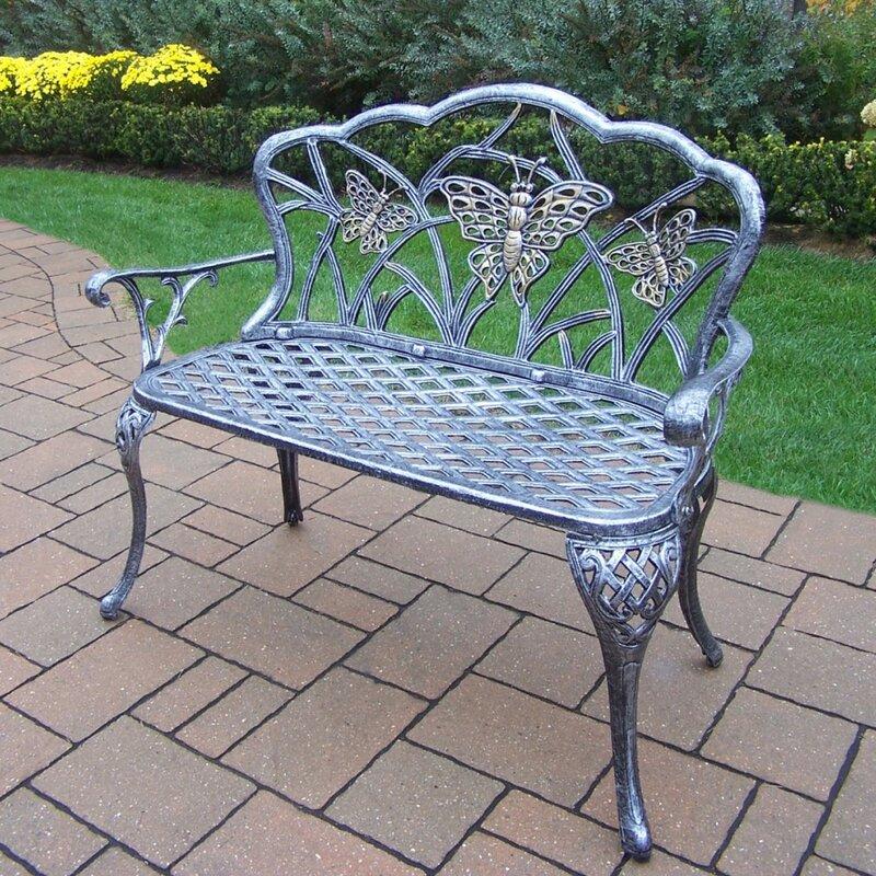 Oakland Living Butterfly Aluminum Garden Bench Reviews Wayfair