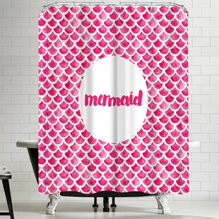 Elena Oneill Mermaid in Pink Single Shower Curtain