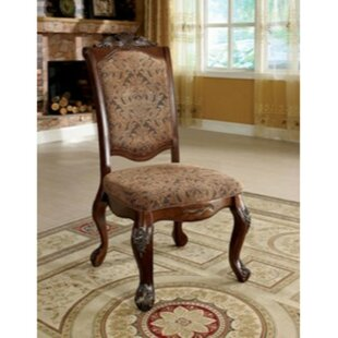 Burbank Upholstered Dining Chair (Set of 2) Astoria Grand