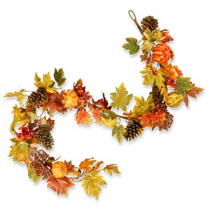 Decorated Maple Leaf Garland