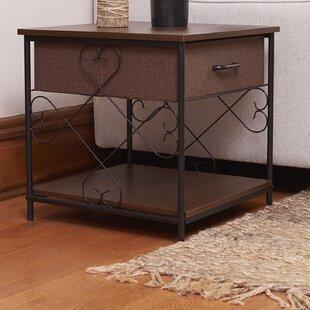 Fleur De Lis Living Clinch End Table with Storage