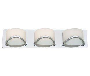 Affordable Solstice 3-Light Bath Bar By DVI