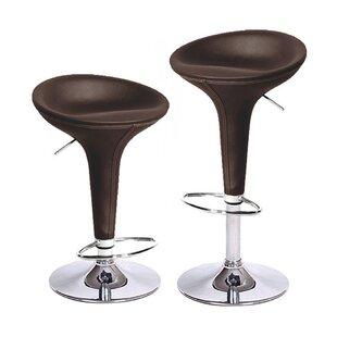 Vandue Corporation Alpha Adjustable Height Swivel Bar Stool (Set of 4)
