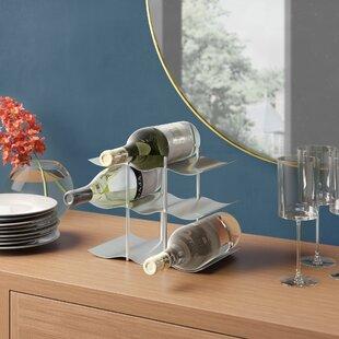 Bilyeu Stainless Steel 9 Bottle Table Top Wine Rack By Metro Lane