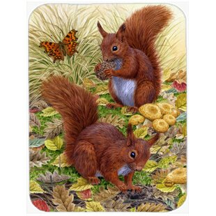 Barr Squirrels Glass Cutting Board