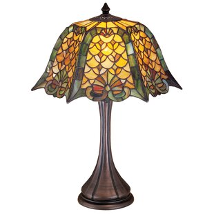 Gothic Nouveau Duffner and Kimberly Shell and Diamond 21 Table Lamp
