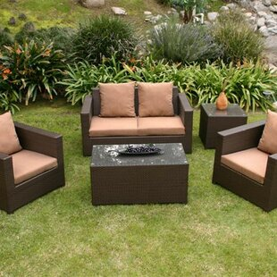 Metro 5 Piece Sofa Set with Cushions by AIC Garden & Casual