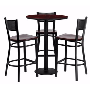 Hardage Round Laminate 4 Piece Pub Table Set