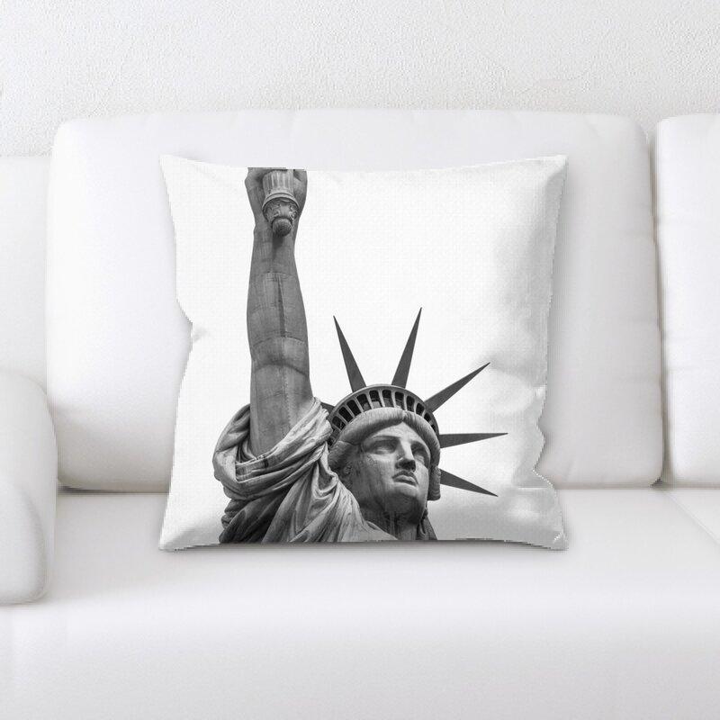 East Urban Home Statue Throw Pillow Wayfair