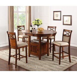 Huguetta 5 Piece Pub Set with Storage Base
