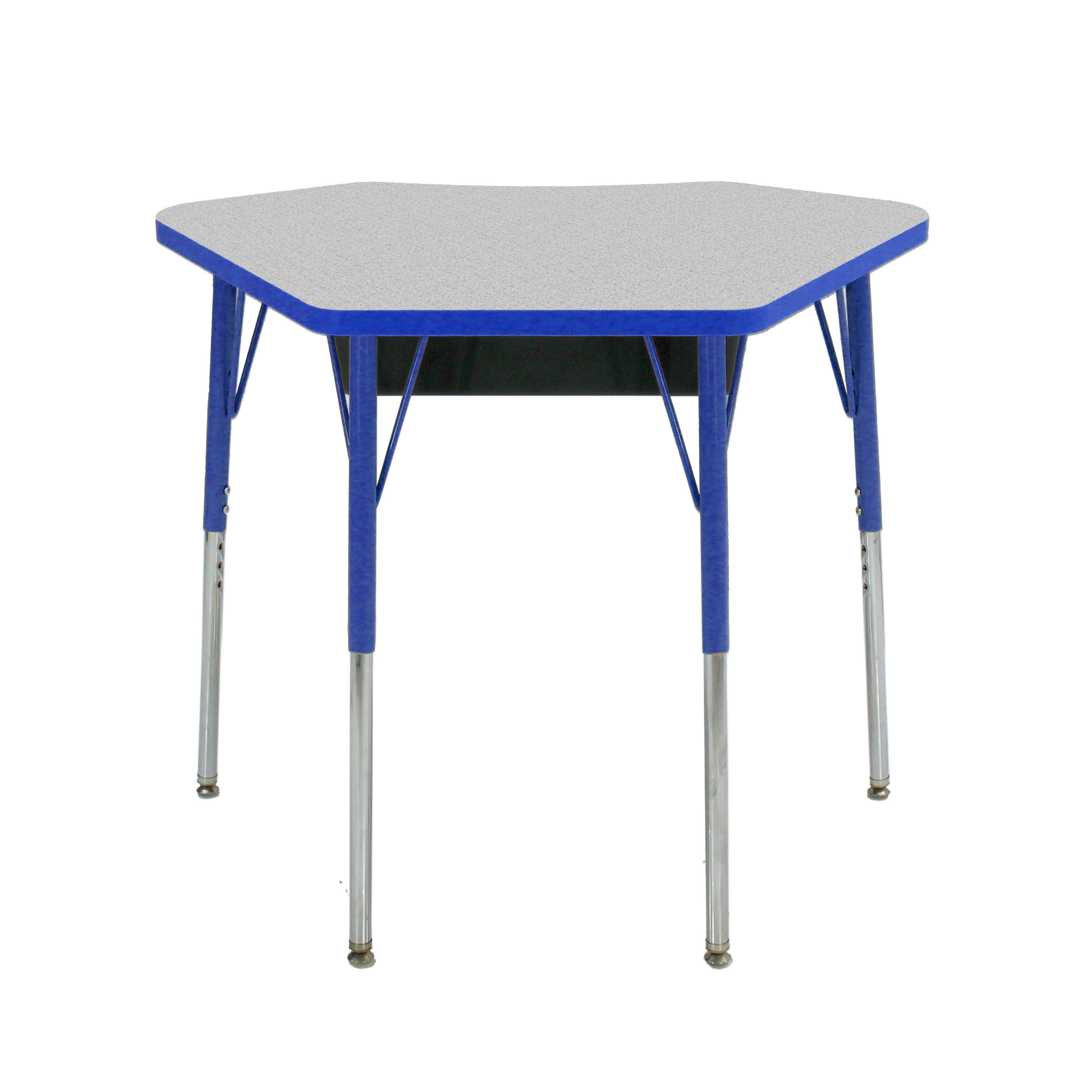 Factory Direct Partners Manufactured Wood Adjustable Height Open Front Desk Wayfair