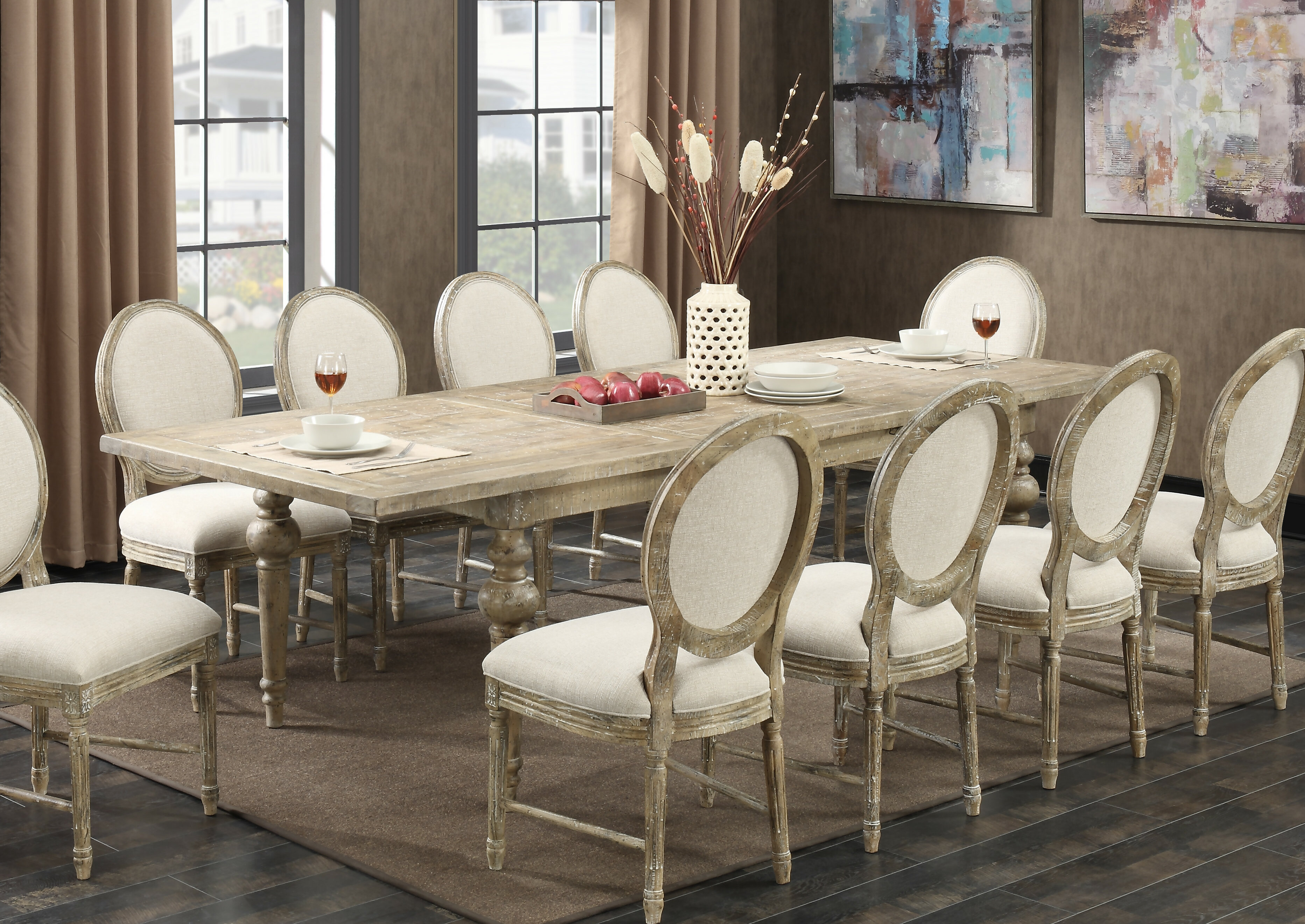 & Lark Manor Montreal 11 Piece Dining Set u0026 Reviews | Wayfair