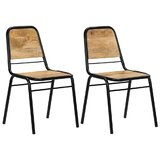 Paloalto Side Chair in Brown (Set of 2) by East Urban Home