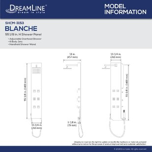 DreamLine Blanche Pressure Balanced Diverter..