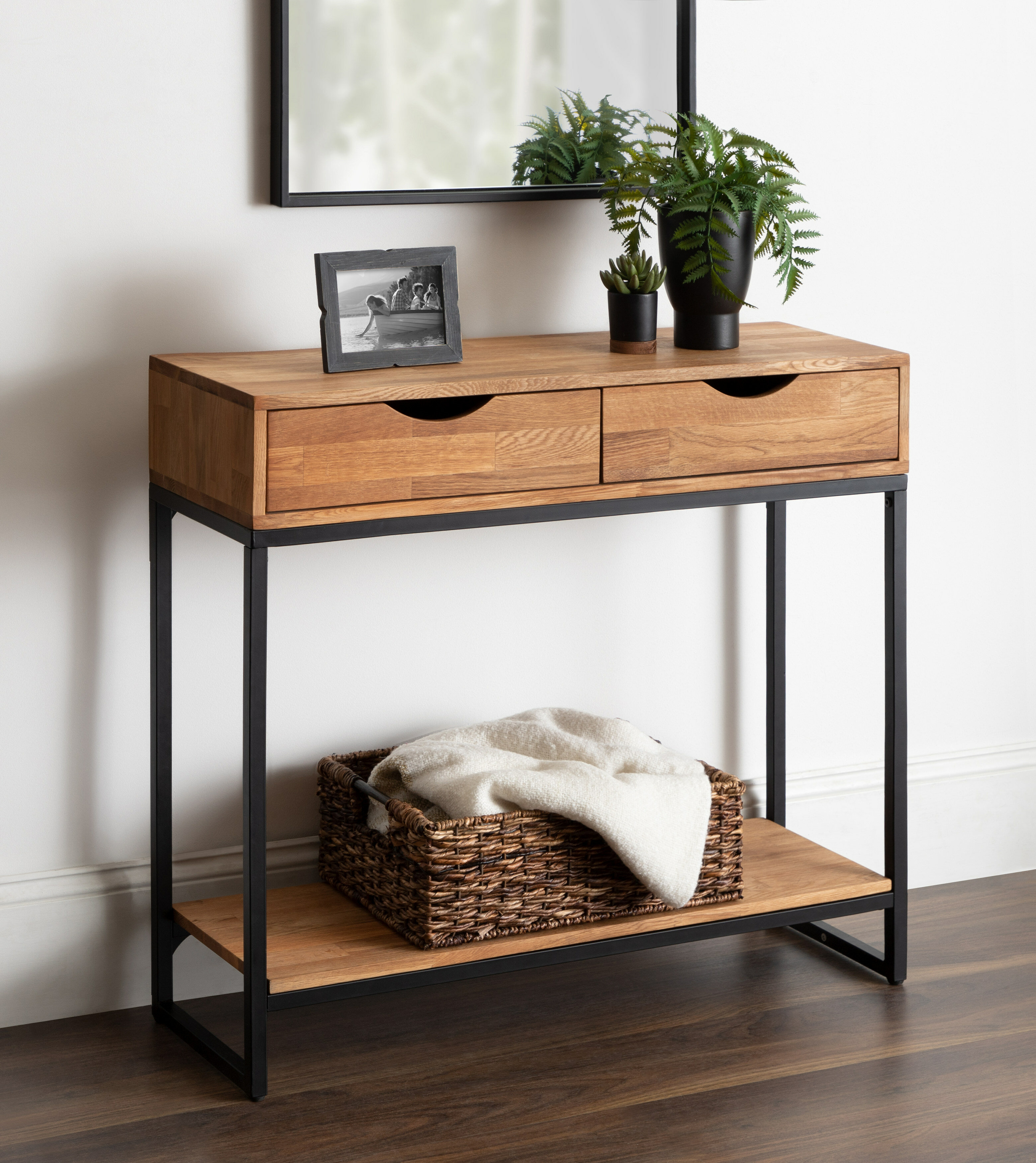 Union Rustic Tallant 35 5 Solid Wood Console Table Reviews Wayfair