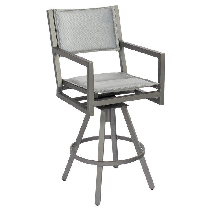 Prime Palm Coast Padded Sling Swivel 30 5 Patio Bar Stool Bralicious Painted Fabric Chair Ideas Braliciousco