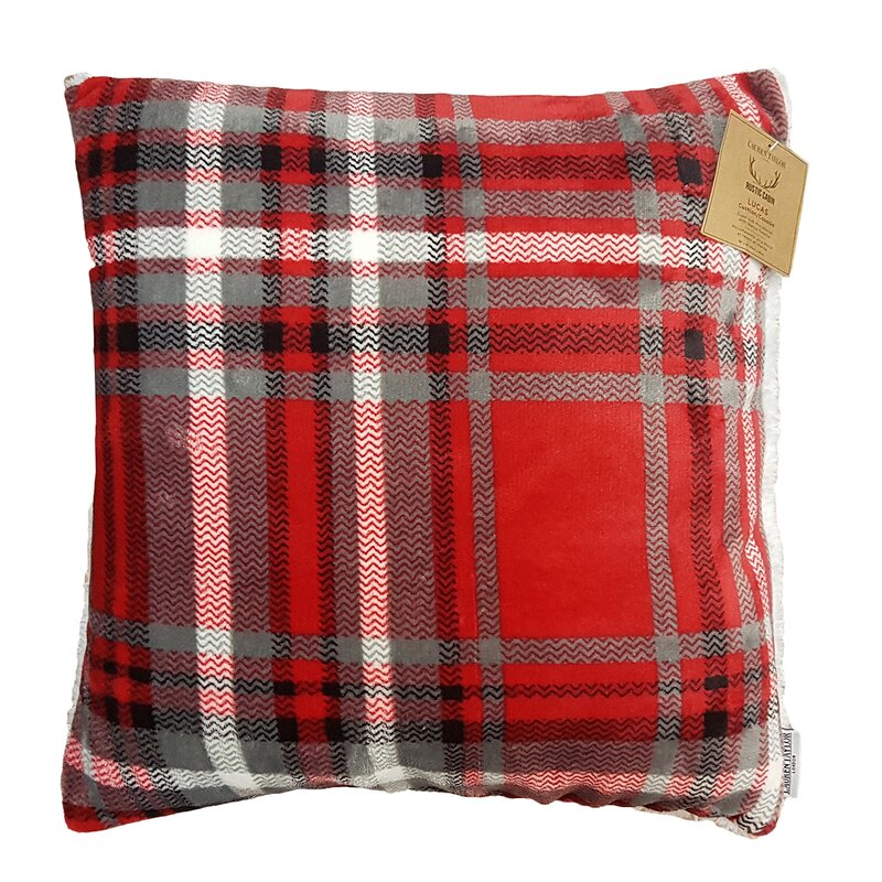 Rustic Cabin Super Soft Plaid and Sherpa Throw Pillow. Holiday decor inspiration with plaid, checks, and tartans! Come be inspired by this classic pattern for Christmas decorating. #plaid #christmasdecor #holidayinspiration #checks #decorating #inspiration
