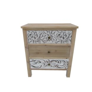 Boyabat 3 Drawer Accent Cabinet by Bungalow Rose