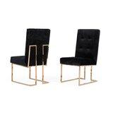 Frisina Tufted Velvet Upholstered Side Chair (Set of 2) by Everly Quinn