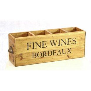 4 Bottle Tabletop Wine Rack By Borough Wharf