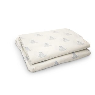 Deals Madilynn Sailboats 200 Thread Count 4 Piece 100% Percale Cotton Sheet Set By Breakwater Bay