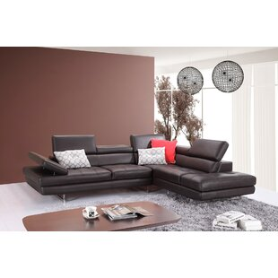 Kamila Leather Sectional b..