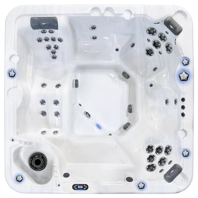 Starlight Hot Tubs Northern Star 5-Person 45-Jet Hot Tub with Waterfall Finish: Grey