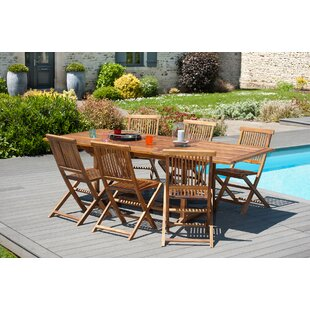 Woehler Extendable Teak Dining Table Image