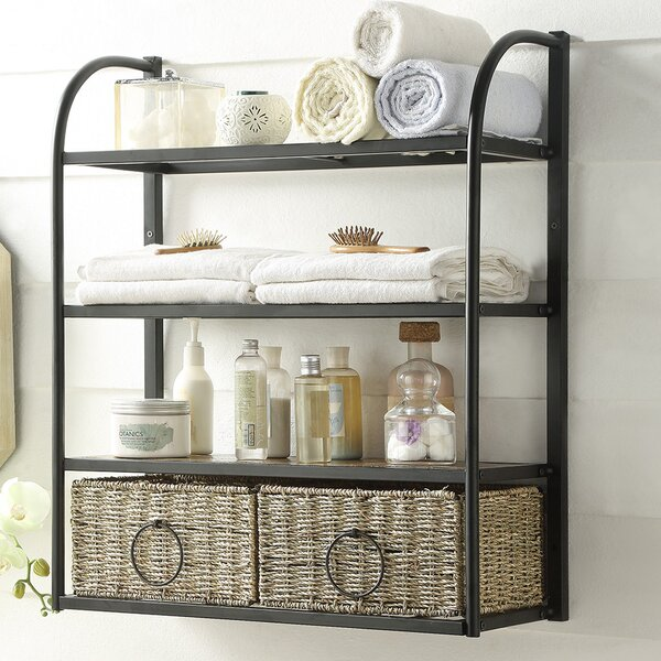 Laurel Foundry Modern Farmhouse Kiowa Hanging Storage Rack with Basket &  Reviews | Wayfair